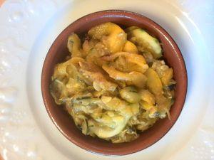 poêlée courgettes jaunes et vertes au curry