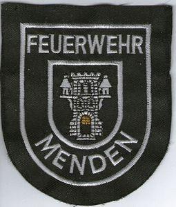 Ecusson des pompiers de MENDEN, en Allemagne