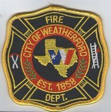 Ecusson des pompiers de WEATHERFORD, au USA