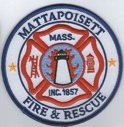 Echange l'écusson des pompiers de MATTAPOISETT, au USA