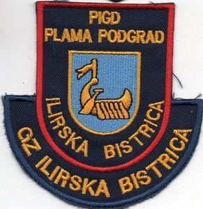 Echange l'écusson des pompiers privés de l'usine PLAMA, en Slovenie