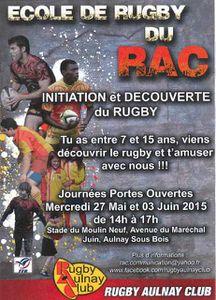 Initiation et découverte du rugby avec le Rugby Aulnay Club d'Aulnay-sous-Bois