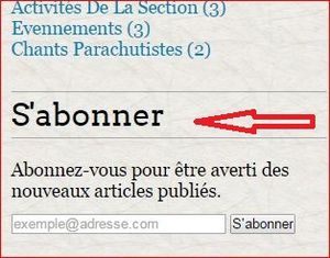 BLOG section parachutiste UNP 010........... mode d'emploi
