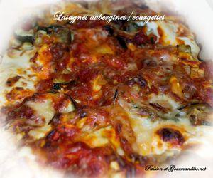 Lasagnes Aubergines/Courgettes