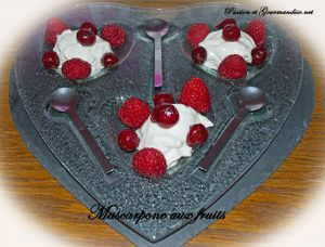 Mascarpone aux fruits