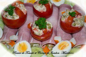 Panier de Tomate et Cornet de Jambon Macédoine