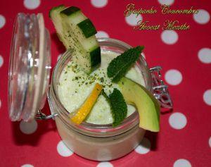 Gaspacho Concombre Avocat Menthe