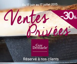 Ventes privées Guy Demarle