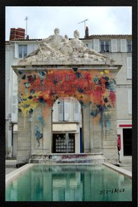 Fontaine place Colbert Rochefort.