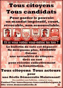 La contre élection départementale de mars 2015