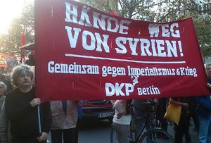 Les communistes allemands (DKP) refusent toute intervention militaire allemande en Syrie
