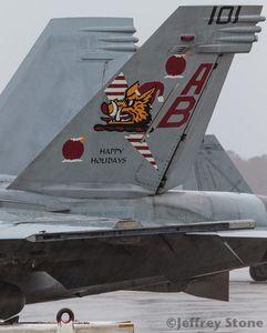 Boeing F/A-18E/F Super Hornet &quot&#x3B;Rhino&quot&#x3B; - VFA-11 &quot&#x3B;Red Rippers&quot&#x3B; - Happy Holidays 2015