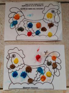 Poule en playmaïs