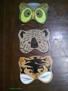 Masque hibou tigre ours MaGommette