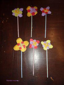 Pot de fleurs gobelet carton nappe pailles