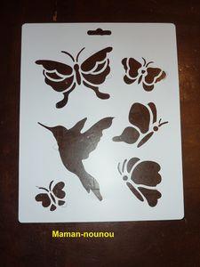 Papillon pochoir