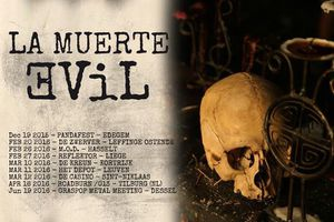 LA MUERTE - EVIL LIVE - DOUBLE SIDED LIVE LP -