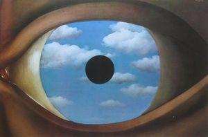 René Magritte, Le Faux Miroir, 1928