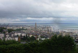 Vue de la ville du Havre et le clocher de Saint-Joseph