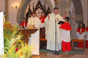 Dernière messe de l'abbé Daniel dans notre communauté de paroisses