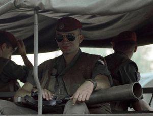 Avril 1983 - Beyrouth - Un parachutiste français (Copyright Wikimedia)
