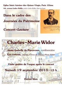 Concert-Lecture : Charles-Marie Widor