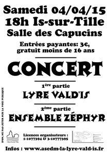 Concert avec la Lyre samedi 4 avril