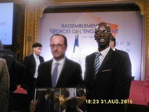 Le Président Hollande et Saïdou Thiam