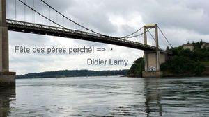 Didier Lamy: Pourquoi cette action en ce jour de  fête des pères ? (Pont St Hubert)