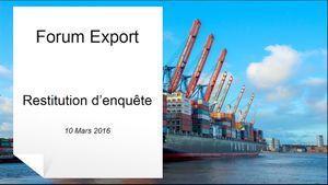Retour sur la soirée du 10 mars 2016 ! Forum Export
