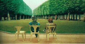 Le peintre David Hockney à Vichy