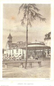 Lithographie en camaïeu par Adrien Dauzats (1804-1868) d'après Jules Simon Le sujet : 175*115 mm.