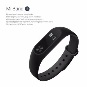 Nouvelle Version Xiaomi Mi Band 2 bracelet intelligent info fil