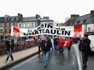 Mobilisation pour 1er mai 2015 à Chateaulin