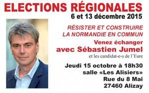 Régionales 2015 : Sébastien JUMEL à Alizay jeudi 15 octobre