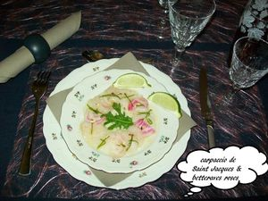 Carpaccio de Saint Jacques &amp&#x3B; betterave rose