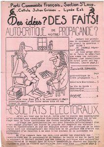 MICRO HISTOIRE . ANNEES 1960 . JOURNAL DE CELLULE D'ETABLISSEMENT D'ENSEIGNEMENT.