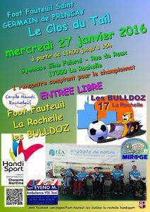 Match de Foot-Fauteuil à La Rochelle Mercredi 27 janvier