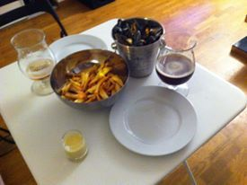 Recette moules camembert frites