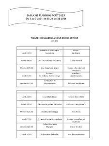 Planning Août 3-6 ans