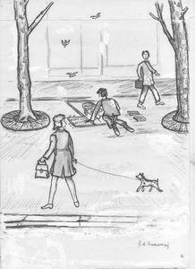 Le crayeur de trottoir