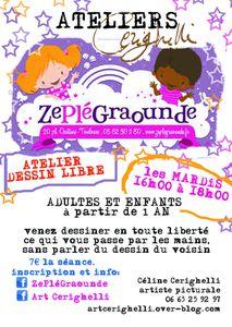 ZePléGraounde Atelier Dessin Libre