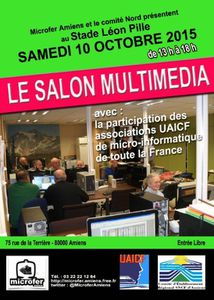 Salon Multimédia à Amiens, 10 octobre 2015