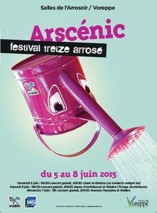FESTIVAL ARSCENIC  Du 5 au 8 juin 2015