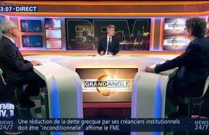 BFMTV 23 mai Grand Angle avec G Filoche PS et CGT, P Doucet député PS du 95 et JL Touly