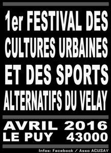 STREET en VELAY du 12 au 17 Avril 2016