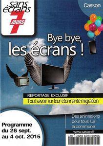 Jours sans écran 2015 à Casson