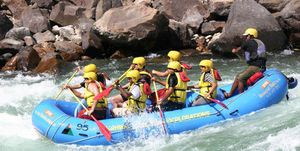 River Rafting in Rishikesh is one of the famous adventure sports.