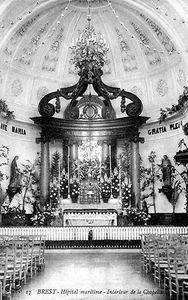 Le choeur de la chapelle de l'hôpital de la marine