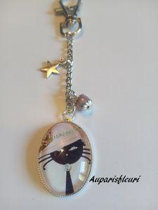 porte clés ou bijoux de sac &quot&#x3B;chat&quot&#x3B;